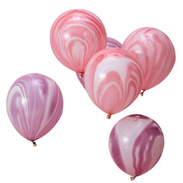 Pink & Purple Marble Balloons